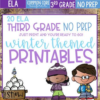 Winter Themed No Prep Literacy Printables