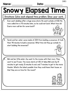 Winter Themed No Prep Math Printables