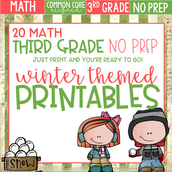 Winter Themed No Prep Math Printables