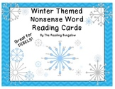 Winter Themed Nonsense Word Reading Cards {Great for DIBELS!}
