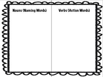 Winter-Themed Noun and Verb Word and Picture Sort