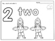 Winter Themed Number Coloring Worksheets: