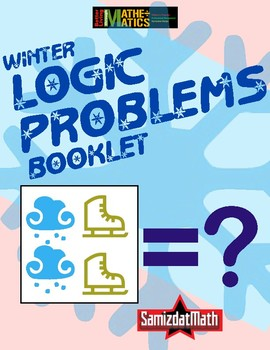Winter Themed Number Logic Booklet - Problem Solving - L@@K Customizable...