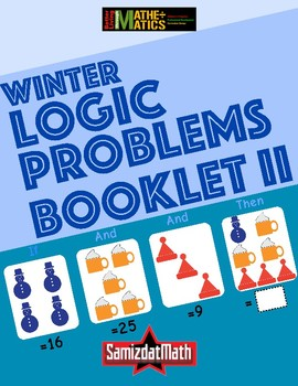 Winter Themed Triple Clue Number Logic Puzzles Booklet - Customizable - L@@K!