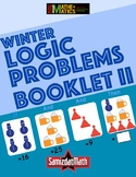 Winter Themed Triple Clue Number Logic Puzzles Booklet - C