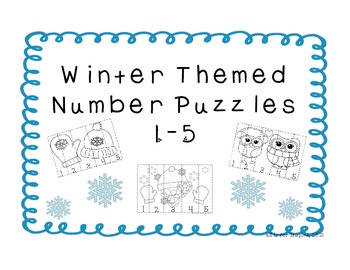 Winter Themed Number Puzzles