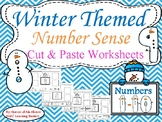 Winter Themed Number Sense (1-10) Cut and Paste Worksheets