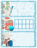 Winter-Themed Number Recognition 0-10 Math Center - Write, Mold, Make!