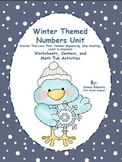 Winter Themed Numbers Unit  Greater Than Less Than, Sequencing, Skip Counting...