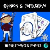 Winter Themed Opinion Persuasive Writing Prompts & Posters, Digital Activities