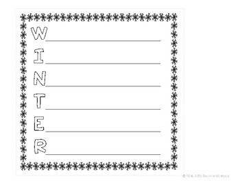 Winter Themed Pages for Target Dollar Spot Books