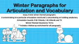 Winter Themed Paragraphs for Articulation and Vocabulary