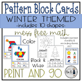 Winter Themed Pattern Block Cards