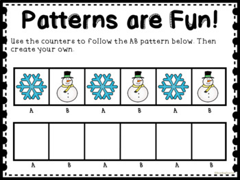 Winter Themed Patterns for Math Centers