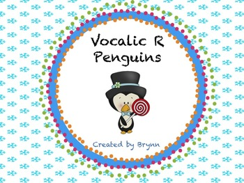 Winter-Themed Penguin Vocalic R Articulation Cards