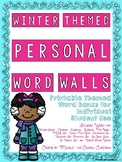 Winter Themed Personal Word Walls {Printable Word Banks: I