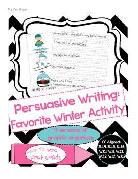 Winter Themed Persuasive Opinion Writing