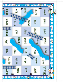 Winter Themed Phonics Climb and Slide Game Boards