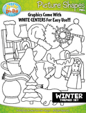 Winter Picture Shapes Clipart {Zip-A-Dee-Doo-Dah Designs}