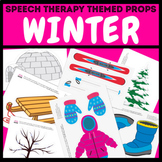 Winter Themed Pictures for Speech Therapy / Virtual Distan