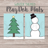 Winter Themed Play-Doh Mats