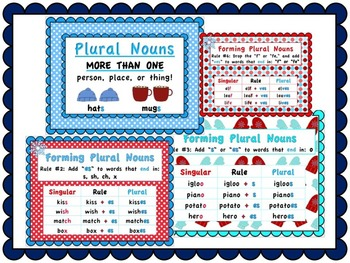 Winter Themed Plural Nouns Pack