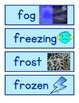 Winter Themed Pocket Chart Word Wall Cards With Pictures