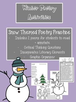 Winter Themed Poetry Practice High School
