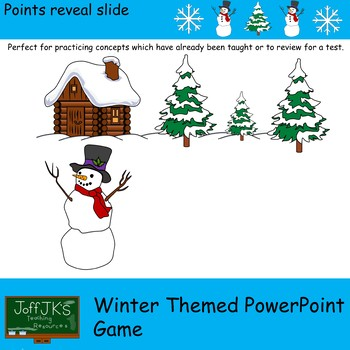 Winter Themed PowerPoint Review Game