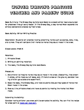 Winter Themed Pre- Writing Practice