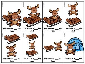 Winter Themed Prepositions for Expressive and Receptive Language