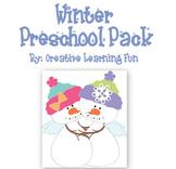 Winter Themed Preschool Pack
