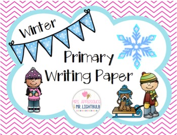 Winter Primary Writing Paper