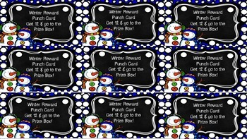 Winter Themed Punch Cards