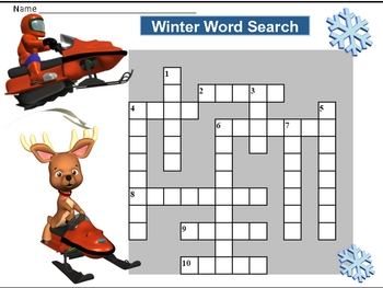 Winter Themed Puzzle sheets With Keys - January/February