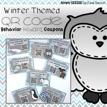 Classroom Management: Behavior QR Code Coupons {Winter Themed}