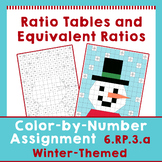 Winter Themed Ratio Tables Equivalent Ratios Color by Numb