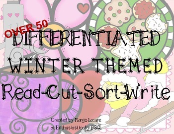 Winter Themed Read Cut Sort and Write