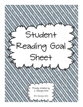 Reading Goal Sheets Winter Themed Paper
