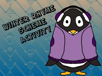 Winter Themed Rhyme Scheme Activity