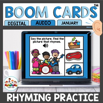 Winter Themed Rhyming Words Boom Cards