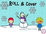 Winter Themed Roll & Cover Math Game