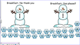 Winter Themed SMART Notebook Student Breakfast or Lunch Count