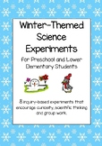 Winter-Themed Science Experiment for Preschool and Lower Elementary Students