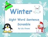 Winter Themed Sight Word Sentence Building