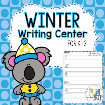 Winter Themed Sentence Center!