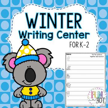 Winter Themed Sentence Center!