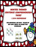 Winter Themed Sentence Comprehension Tasks