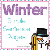 Winter-Themed Sentence Practice Pages