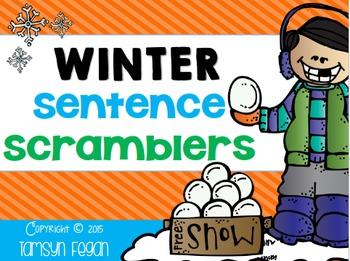 Winter Themed Sentence Scrambles